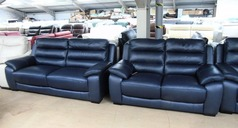 Charlotte 3 seater and 2 seater navy blue £1499 ( SWANSEA SUPERSTORE) - Click for more details