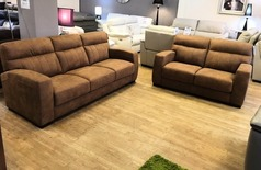 Faro 3 seater and 2 seater tan £1199 (SWANSEA  SUPERSTORE) - Click for more details
