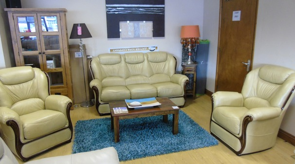 Gemma 3 seater and 2 chairs antique beige £1799 (NEWPORT STORE)