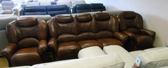 GARDA 3 seaterand 2 chairs  antique brown £1499 (NEWPORT STORE) - Click for more details