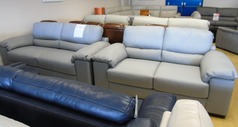 Softaly 3 seater and 2 seater grey £1999 (NEWPORT STORE) - Click for more details