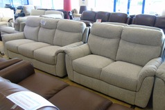Brussels 3 seater and 2 seater beige £999 (NEWPORT STORE) - Click for more details