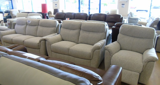 Brussels 3 seater, 2 seater and electric recliner chair beige £1399 (NEWPORT STORE)