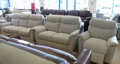 Brussels 3 seater, 2 seater and electric recliner chair beige £1399 (NEWPORT STORE) - Click for more details