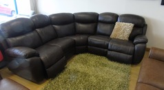Barcelona double electric recliner corner suite brown £1999 (NEWPORT STORE) - Click for more details