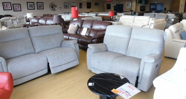 GRANADA electric recliner 3 seater and 2 seater grey £1799 (NEWPORT STORE)