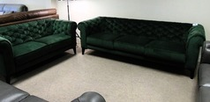 Ravenna 3 seater and 2 seater green £899 (CARDIFF SUPERSTORE) - Click for more details