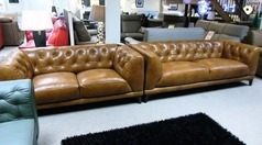 NANCY 3 seater and 2 seater vintage tan £1999 (CARDIFF SUPERSTORE) - Click for more details