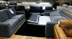 Roma 3 seater and 2 seater sofa bed grey fabric £799 (CARDIFF SUPERSTORE) - Click for more details