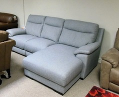 Paris chaise sofa grey £799 (CARDIFF SUPERSTORE) - Click for more details