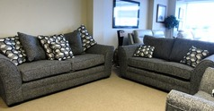 LOREEN 3 seater and 2 seater grey fabric £999 (CARDIFF SUPERSTORE) - Click for more details