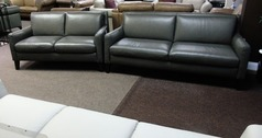Ferrara 3 seater and 2 seater dark grey £1499 (CARDIFF SUPERSTORE) - Click for more details