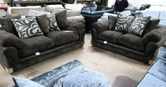 G Range dark brown 3 seater and 2 seater £599 (SWANSEA SUPERSTORE) - Click for more details