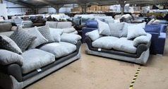 G range 3 seater and 2 seater grey £599 (SWANSEA SUPERSTORE) - Click for more details