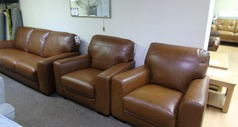 PORTO 3 seater and 2 chairs vintage tan £1499 (SUPERSTORE) - Click for more details