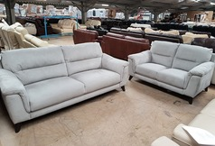 Calais 3 seater and 2 seater set dove grey fabric £799 (SWANSEA SUPERSTORE) - Click for more details