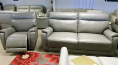 Granada 3 seater and 1 electric recliner chair mid grey  £1399 (CARDIFF SUPERSTORE)  - Click for more details