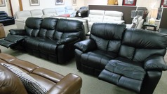 Pembroke recliner 3 seater and 2 seater  black £999 ( CARDIFF SUPERSTORE) - Click for more details