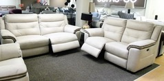 Miami electric recliner 3 seater and 2 seater bisque £999 (CARDIFF SUPERSTORE) - Click for more details