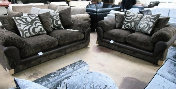 G Range dark brown 3 seater and 2 seater £599 (CARDIFF SUPERSTORE)