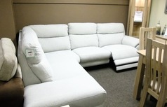 Narbonne elctric recliner corner suite cream £999 (SWANSEA SUPERSTORE) - Click for more details