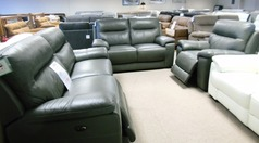 Normandy electric recliner 3 seater , 2 seater  and electric recliner chair grey £2499 (CARDIFF SUPERSTORE) - Click for more details