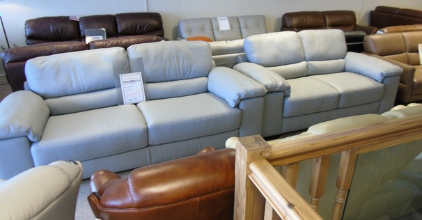 Softaly 3 seater and  2 seater grey £1999 (CARDIFF SUPERSTORE)