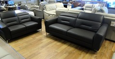 Teseo 3 seater and 2 seater dark grey £2499 (CARDIFF  SUPERSTORE) - Click for more details