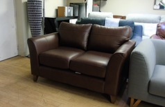 Mid brown 2 seater £299 (SWANSEA SUPERSTORE) - Click for more details