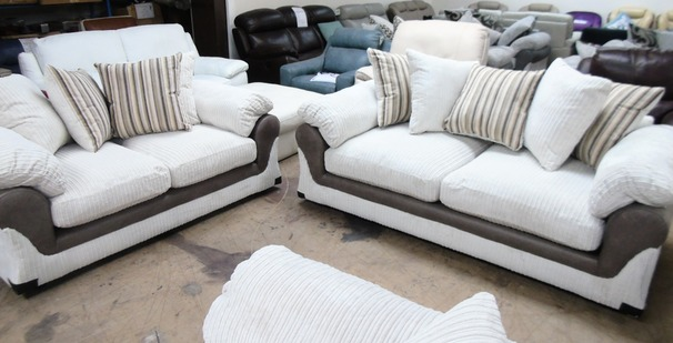 G range  3 seater and 2 seater cream £599 (SWANSEA SUPERSTORE)