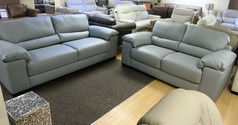 ANDRIA 3  seater and 2 seater grey £1999 (SWANSEA SUPERSTORE) - Click for more details