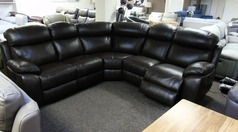 Barcelona double electric recliner corner suite brown £1999 (SWANSEA SUPERSTORE) - Click for more details