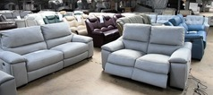 Provence electric recliner 3 seater and 2 seater  grey fabric £1499 ( SWANSEA SUPERSTORE) - Click for more details