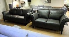 Palermo 3 seater and 2 seater dark grey (SWANSEA SUPERSTORE) - Click for more details