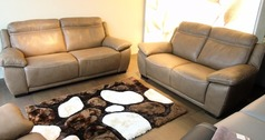 TORINO 3 seater and 2 seater taupe   £1999 (SWANSEA SUPERSTORE) - Click for more details
