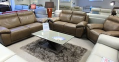 TORINO 3 seater, 2 seater and chair  taupe  £2499 (CARDIFF SUPERSTORE) - Click for more details