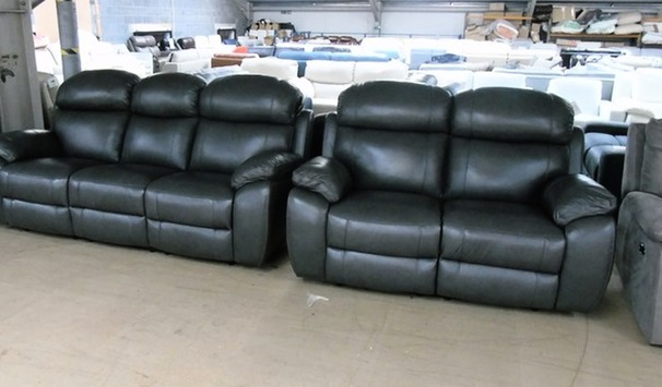 Barcelona electric recliner 3 seater and 2 seater anthracite grey £2299 (CARDIFF SUPERSTORE)