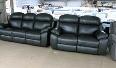 Barcelona electric recliner 3 seater and 2 seater anthracite grey £2299 (CARDIFF SUPERSTORE) - Click for more details