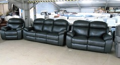 Barcelona electric recliner 3 seater, 2 seater and chair  anthracite £2999 (CARDIFF SUPERSTORE) - Click for more details