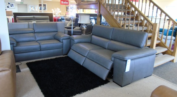 Lazio electric recliner 3 seater and static 2 seater dark grey  £3999 (CARDIFF SUPERSTORE)