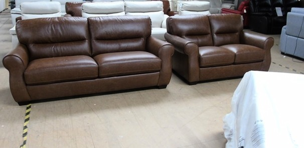 Mira 3 seater and 2 seater vintage tan £1499 ( SWANSEA SUPERSTORE)