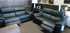 CATANIA electric recliner 3 seater and 2 seater black £3999 (SWANSEA SUPERSTORE) - Click for more details