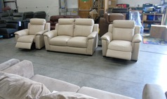 Cotswold 2 seater and 2 electric recliner chairs beige  £799 (SWANSEA SUPERSTORE) - Click for more details