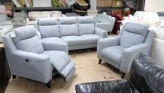 Newbury  large 3 seater and 2 recliner chairs grey  £1499 (SWANSEA SUPERSTORE) - Click for more details