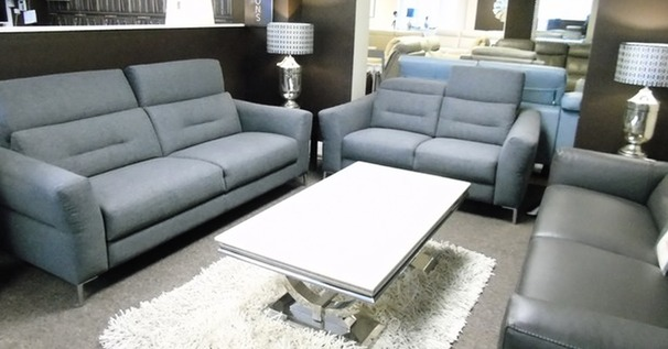 Teseo 3 seater and 2 seater dark grey £999 (SWANSEA  SUPERSTORE)