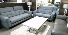 Teseo 3 seater and 2 seater dark grey £999 (SWANSEA  SUPERSTORE) - Click for more details