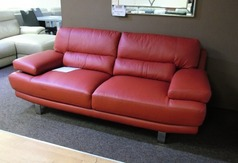 Fraisse 3 seater red £299 (SWANSEA SUPERSTORE) - Click for more details