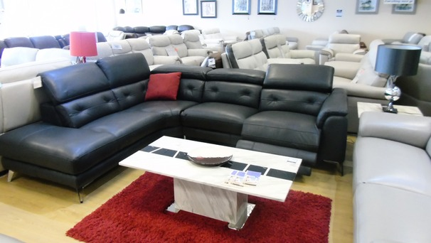 Toulon electric recliner corner suite charcoal grey £2799 (NEWPORT STORE)