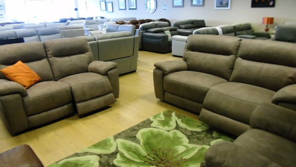 Normandy electric recliner 3 seater and 2 seater tabac £1799 (NEWPORT STORE)