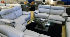 Paris electric recliner 3 seater and 2 seater set £1999 (NEWPORT STORE) - Click for more details